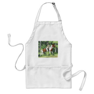 HORSE ART Cross-Country Up the Steps Eventing Standard Apron