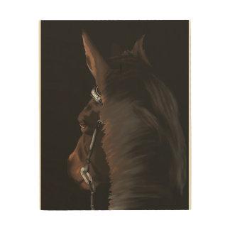 Horse Art on wood
