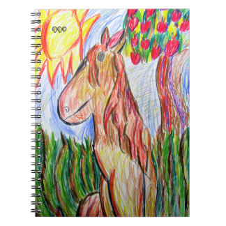 horse art three notebooks