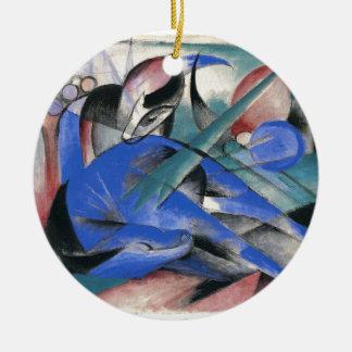 Horse Asleep by Franz Marc Ceramic Ornament