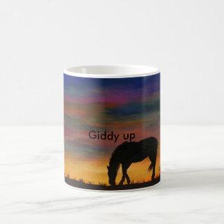 Horse at Sunrise Coffee Mug