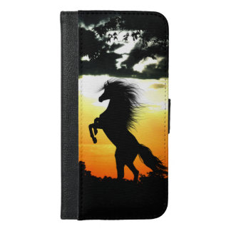 Horse at sunrise iPhone 6/6s plus wallet case