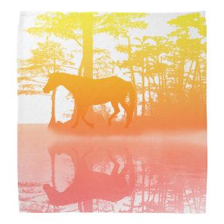 Horse At Twilight Bandana