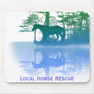 Horse At Twilight Mouse Pad