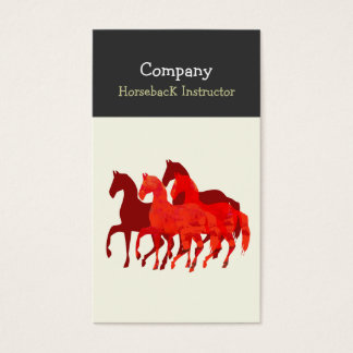 Horse Back Instructor  Horses Business Card