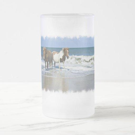 Horse Beach Frosted Mug