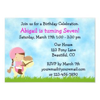 Horse Birthday Invitation for Girls
