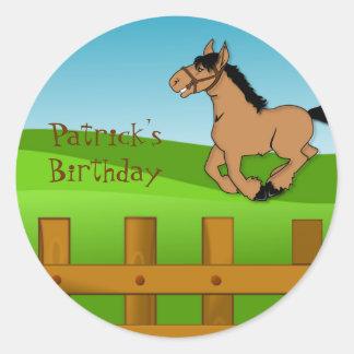 Horse birthday sticker