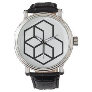 Horse (+) / Black Vintage Leather Watch
