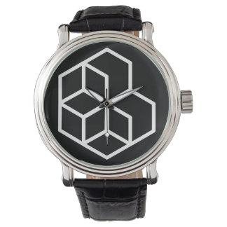 Horse (-) / Black Vintage Leather Watch