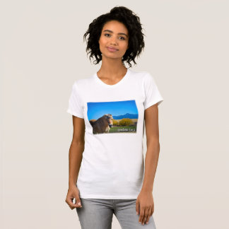 Horse Blue Sky and Montana Mountains T-Shirt