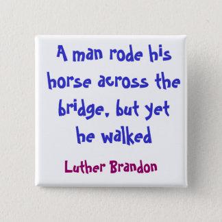 Horse Bridge 15 Cm Square Badge