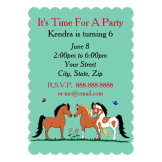 Horse buddies Customisable Party Invitations