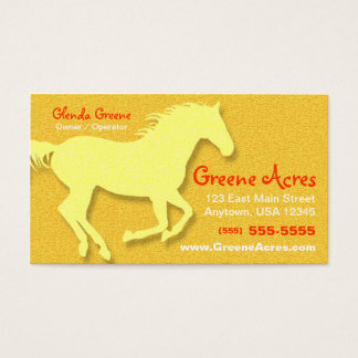 Horse Business Card - Yellow