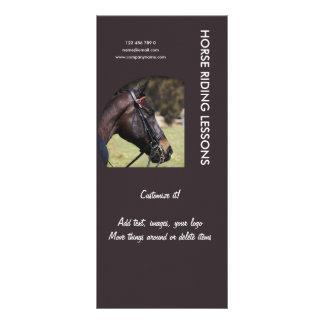 Horse business marketing rack card