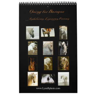 Horse Calendar -Andalusian, Friesian Lipizzan