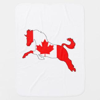 Horse Canada Baby Blanket