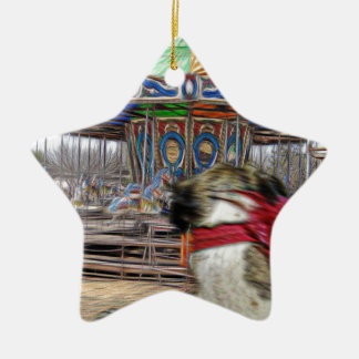 Horse Carousel Ceramic Star Decoration