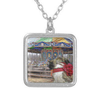 Horse Carousel Silver Plated Necklace
