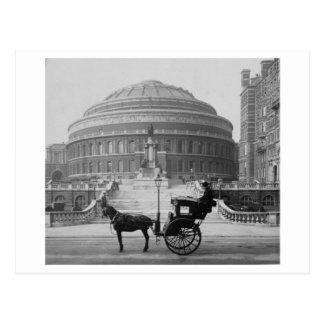 Horse carriage at Albert Hall London 1904, England Postcard