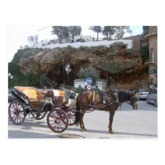 Horse carriage in Mijas Postcard