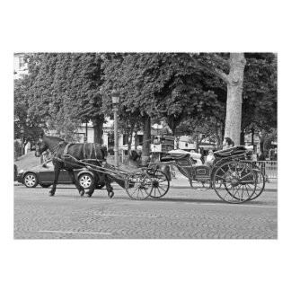 Horse carriage in the center of Paris Photo Print