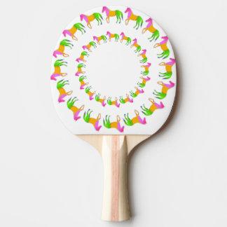 Horse Circle Ping Pong Paddle