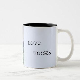 horse collection. arabian Two-Tone coffee mug