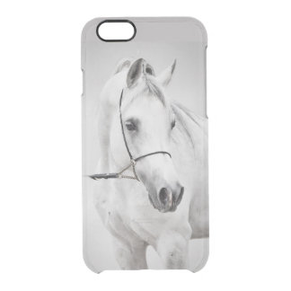 horse collection. arabian white clear iPhone 6/6S case