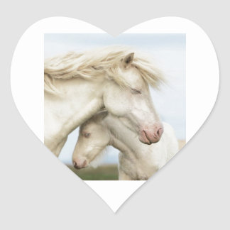 Horse collection heart sticker