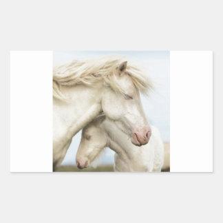 Horse collection rectangular sticker