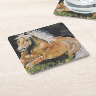Horse Collection - Wild Mustang Coaster Square Paper Coaster
