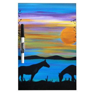 Horse Companions Dry Erase Board