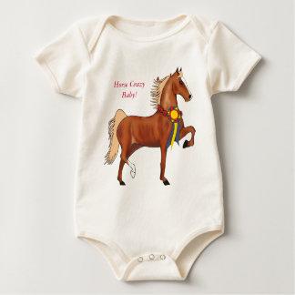 Horse Crazy Baby Infant Organic Creeper