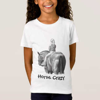 HORSE CRAZY: SHIRT: GIRL: PENCIL, HORSEBACK T-Shirt