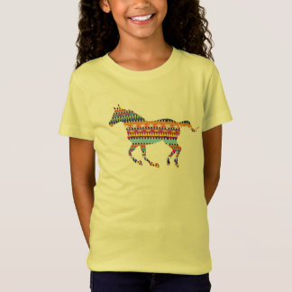 horse deco Girls' Bella+Canvas Fitted Babydoll T-Shirt