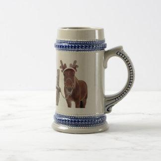 Horse deer - christmas horse - funny horse beer stein