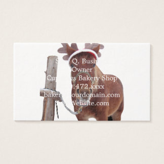 Horse deer - christmas horse - funny horse business card