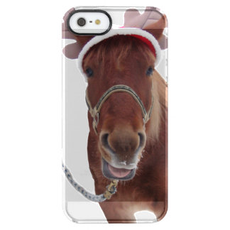 Horse deer - christmas horse - funny horse clear iPhone SE/5/5s case