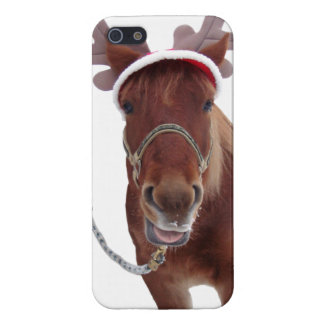 Horse deer - christmas horse - funny horse cover for iPhone 5/5S
