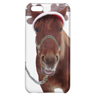Horse deer - christmas horse - funny horse cover for iPhone 5C