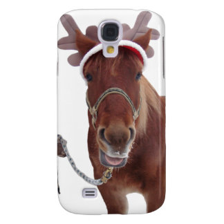 Horse deer - christmas horse - funny horse galaxy s4 covers