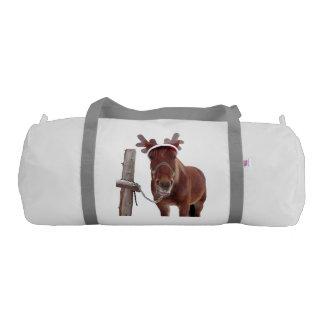 Horse deer - christmas horse - funny horse gym bag