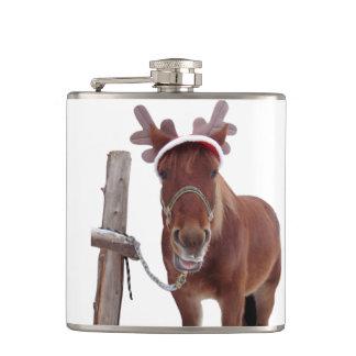 Horse deer - christmas horse - funny horse hip flask