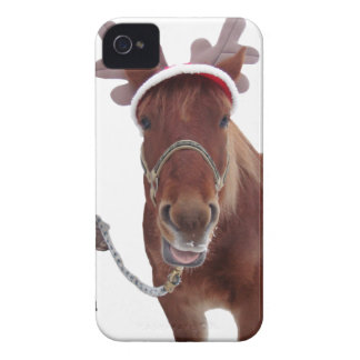 Horse deer - christmas horse - funny horse iPhone 4 case