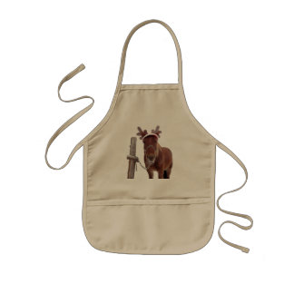 Horse deer - christmas horse - funny horse kids apron