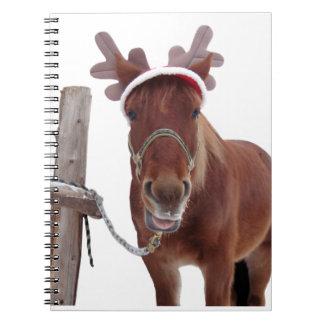 Horse deer - christmas horse - funny horse notebook