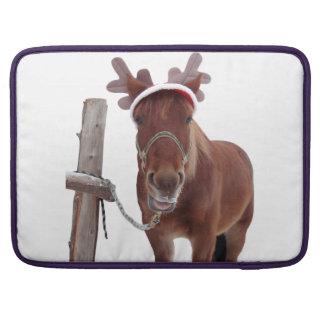Horse deer - christmas horse - funny horse sleeve for MacBooks