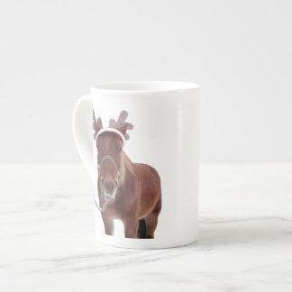 Horse deer - christmas horse - funny horse tea cup