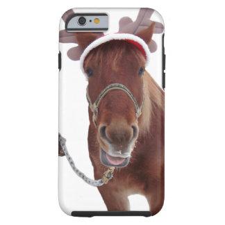 Horse deer - christmas horse - funny horse tough iPhone 6 case